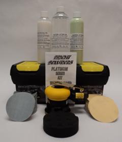 Platinum Series Kit: Headlight Restoration Kit for up to 70 Vehicles, w/ Orbital Sander, Sanding Pads, Polishing Pad & Toolbox